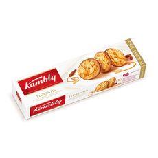 KAMBLY Florentin biscuit aux amandes effilées nappé de chocolat au lait 125g