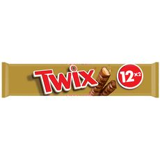 TWIX Barres chocolatées au biscuit recouvert de caramel 12 barres 600g