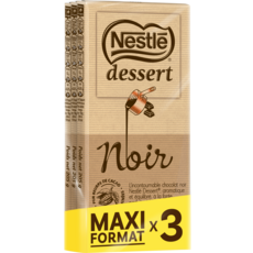 NESTLE Tablette de chocolat noir pâtissier maxi format 3 pièces 3x205g