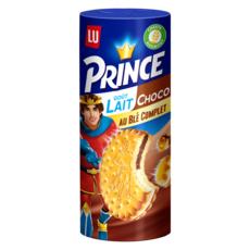 PRINCE Biscuits fourrés goût lait et chocolat 300g