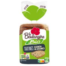 LA BOULANGERE Tartines quinoa et graines bio 450g