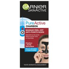 GARNIER PureActive masque peel-off anti-points noirs au charbon 50ml