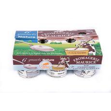 FROMAGERIE MAURICE Yaourt brassé au lait entier nature 6x125g
