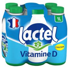 LACTEL Lait écrémé UHT 6x1L