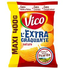 VICO Chips ondulées extra craquantes nature maxi format 400g