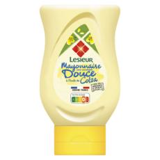 LESIEUR Mayonnaise douce sans moutarde squeeze 220g