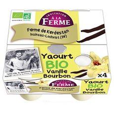 INVITATION A LA FERME Yaourt vanille bourdon bio 4x125g
