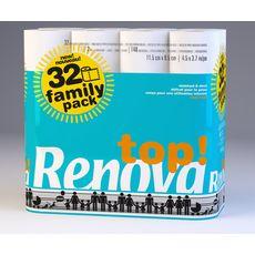 RENOVA Papier toilette résistant et doux 32 rouleaux