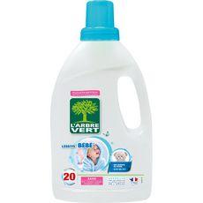 L'ARBRE VERT Lessive liquide bébé hypoallergénique 20 lavages 1,2l