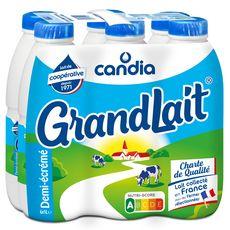 CANDIA Grandlait lait demi-écrémé UHT 6x1L