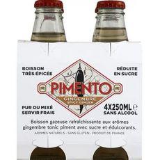 PIMENTO Boisson ginger beer 0%  4x25cl