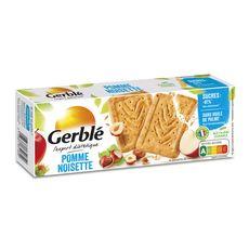GERBLE Biscuits pomme noisette ss huile de palme moins de sucres, sachets fraîcheur 4x4 biscuits 230g