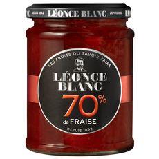 LEONCE BLANC Confiture de fraises 70% 320g