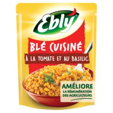 EBLY Blé précuit cuisiné à la tomate et au basilic 220g