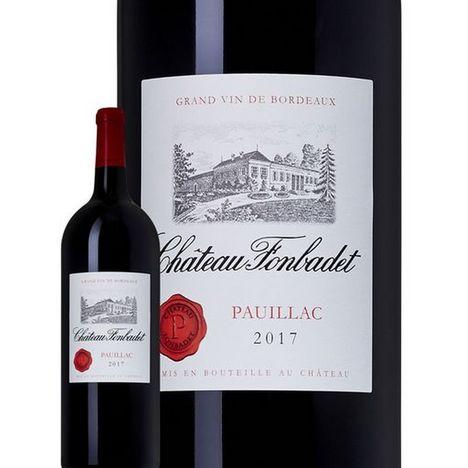 SANS MARQUE AOP Pauillac Magnum Château Fonbadet 2017 rouge