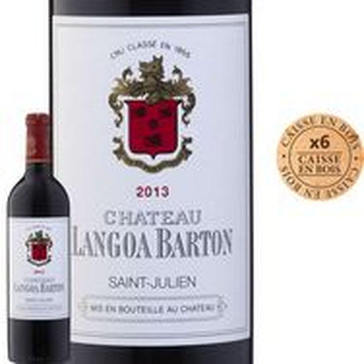 AOP Saint Julien 3ème Grand Cru Classé Château Langoa Barton rouge 2013