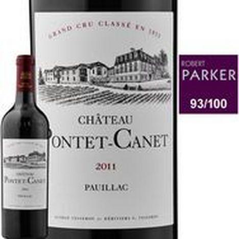 SANS MARQUE AOP Pauillac 5ème Grand Cru Classé Château Pontet Canet rouge 2011
