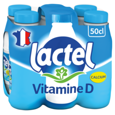 LACTEL Lait demi-écrémé UHT 6x50cl