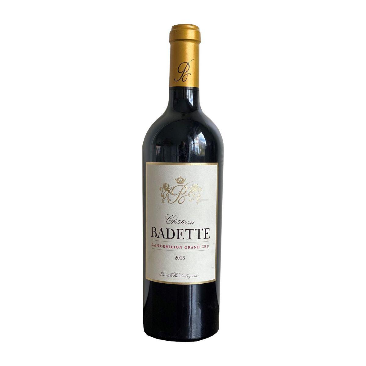 AOP Saint Emilion Grand Cru Château Badette rouge 2016