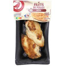AUCHAN Filets de poulet rôti 2 personnes 230g