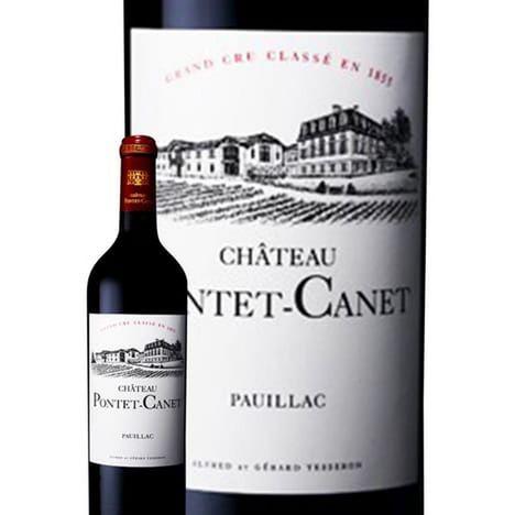 SANS MARQUE AOP Pauillac Château Pontet Canet rouge 2013