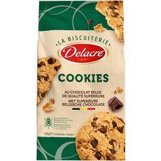 DELACRE Cookies biscuits aux pépites de chocolat 150g