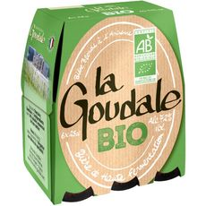 LA GOUDALE Bière blonde bio 7.2% bouteilles 6x25cl