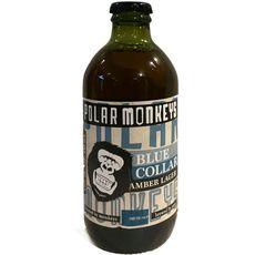 POLAR MONKEYS Bière ambrée Blue Collar 5% bouteille  33cl