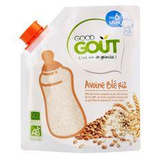 GOOD GOUT Céréales avoine blé riz bio en poudre dès 6 mois 200g