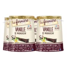 LA FERMIERE Yaourt vanille de Madagascar 4x125g