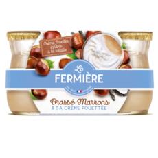 LA FERMIERE Crème de marrons et sa crème fouettée infusée à la vanille 2x120g