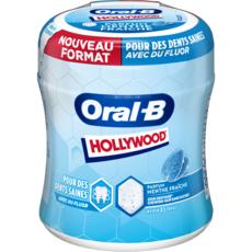HOLLYWOOD Oral-B Box chewing gum menthe fraîche sans sucre  environ 45 dragées 76,5g