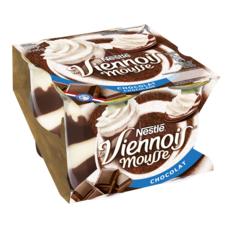 NESTLE Viennois mousse liégeoise au chocolat 4x90g