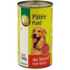POUCE Boîte pâtée au boeuf pour chien 1.2kg