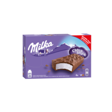 MILKA Choco snack dessert lacté au chocolat 4x32g