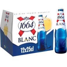 1664 Bière blanche 5% bouteilles avec une pointe d'agrumes 12x25cl