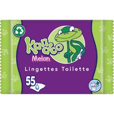 KANDOO Lingettes nettoyantes pour change au melon pour bébé 55 lingettes