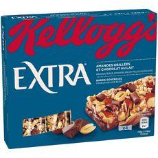 EXTRA Barre de céréales aux amandes grillées et chocolat au lait 4 barres 128g