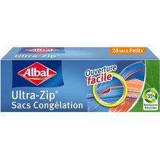 ALBAL Sacs congélation à double fermeture hermétiques petite taille 20 sacs