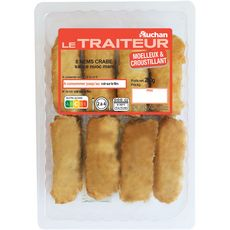 AUCHAN LE TRAITEUR Nems crabe sauce nuoc mam 8 pièces 260g