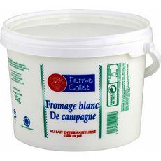 FERME COLLET Fromage blanc de campagne au lait entier caillé 4% MG pot 2kg