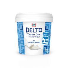 DELTA Yaourt Grec authentique nature 0% 1kg