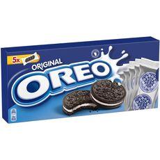 OREO Biscuits cacaotés fourrés vanille 5x4 biscuits 220g
