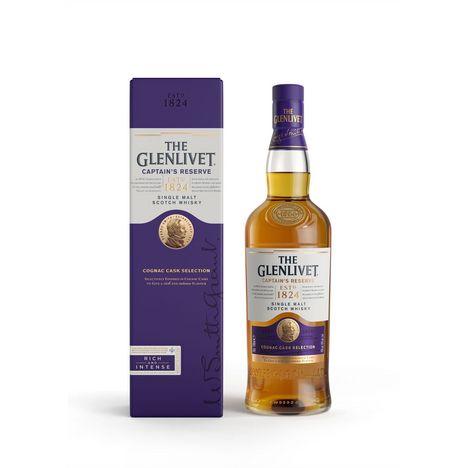 THE GLENLIVET Scotch whisky single malt ecossais Captain's reserve 40%
