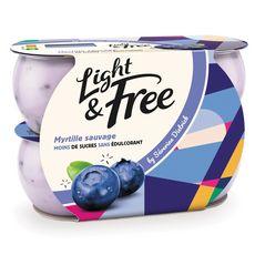 LIGHT&FREE Yaourt allégé à la myrtille sauvage 4x120g