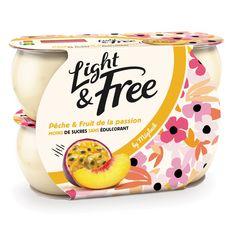 LIGHT&FREE Yaourt allégé pêche passion 4x120g