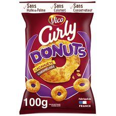 CURLY Donuts à la cacahuète caramélisée sucrée-salée sans huile de palme 100g