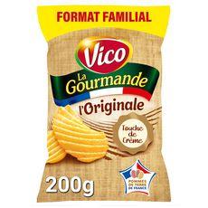 VICO Chips La Gourmande ondulées nature maxi format 200g