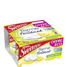 SVELTESSE Sveltesse ferme et fondant saveur citron 4x125g