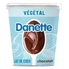 DANETTE Crème dessert végétale chocolat base coco 400g
